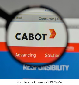 Milan, Italy - August 10, 2017: Cabot logo on the website homepage.