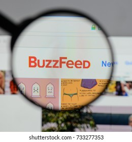 Milan, Italy - August 10, 2017: Buzzfeed