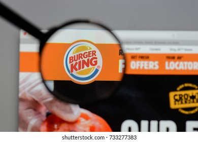 Milan, Italy - August 10, 2017: Burger King logo on the website homepage.