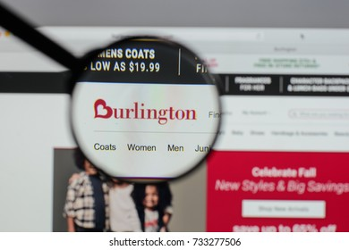 Milan, Italy - August 10, 2017: Burlington Stores logo on the website homepage.