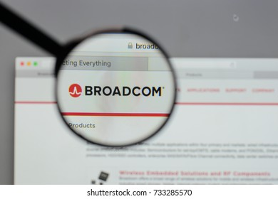 Milan, Italy - August 10, 2017: Broadcom