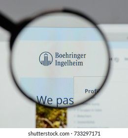 Milan, Italy - August 10, 2017: Boehringer logo on the website homepage.