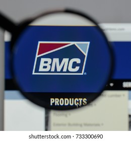 Milan, Italy - August 10, 2017: BMC Stock Holdings logo on the website homepage.