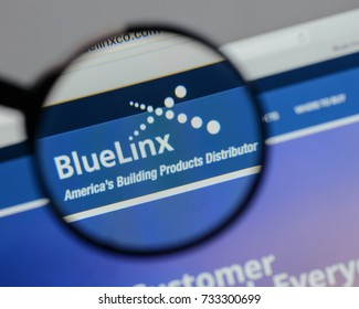 Milan, Italy - August 10, 2017: Blue Linx Holdings logo on the website homepage.