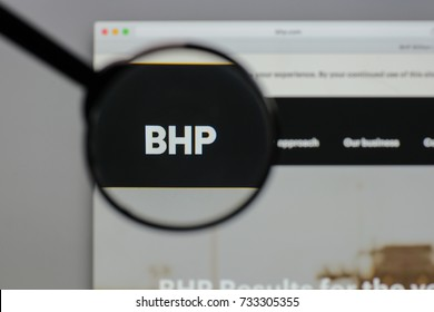 Milan, Italy - August 10, 2017: BHP Billiton