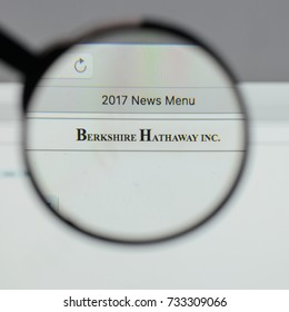 Milan, Italy - August 10, 2017: Berkshire Hathaway logo on the website homepage.