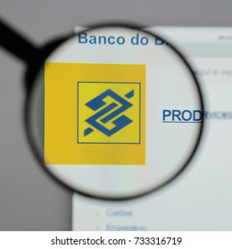 Milan, Italy - August 10, 2017: Banco do Brasil logo on the website homepage.