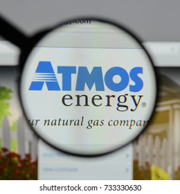 Milan, Italy - August 10, 2017: Atmos Energy logo on the website homepage.