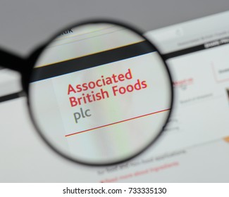 Milan, Italy - August 10, 2017: Associated British Foods logo on the website homepage.