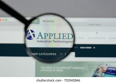 Milan, Italy - August 10, 2017: Applied Industrial Technologies logo on the website homepage.