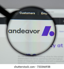 Milan, Italy - August 10, 2017: Andeavor
