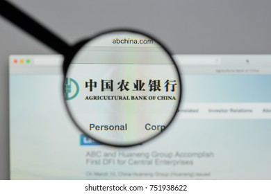 Milan, Italy - August 10, 2017: Agricultural Bank of China