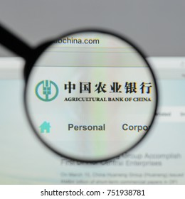 Milan, Italy - August 10, 2017: Agricultural Bank of China website homepage. logo visible.