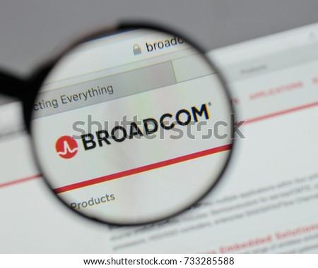 Milan Italy August 10 2017 Broadcom Stock Photo (Edit Now) 733285588