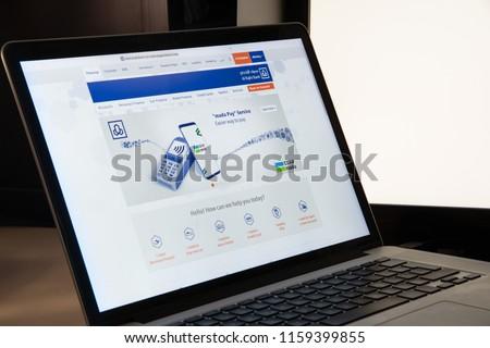 Milan, Italy - August 15, 2018: Al Rajhi Bank online banking website homepage