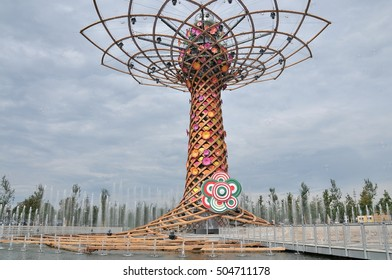 Milan,  Italy - August, 19, 2015: Tree of Life in Expo Milan 2015