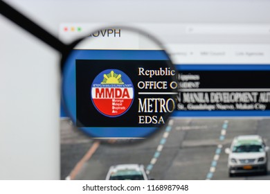 Milan, Italy - August 20, 2018: Official MMDA website homepage. Official MMDA logo visible.