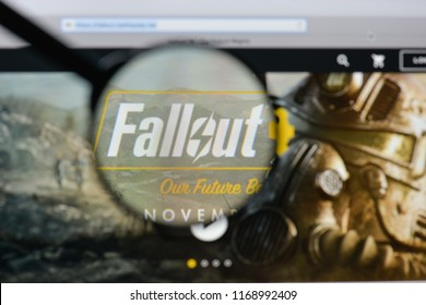Milan, Italy - August 20, 2018: Fallout 4 website homepage. Fallout 4 logo visible.