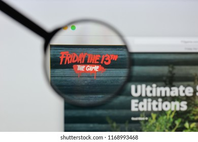 Milan, Italy - August 20, 2018: Friday The 13th The Game website homepage. Friday The 13th The Game logo visible.
