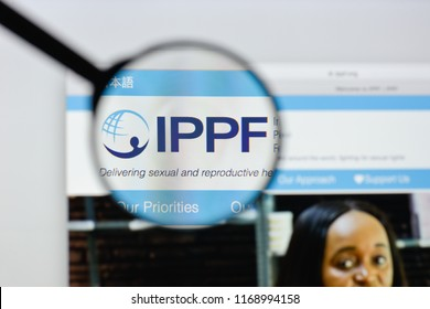 Milan, Italy - August 20, 2018: International Planned Parenthood Federation website homepage. International Planned Parenthood Federation logo visible.