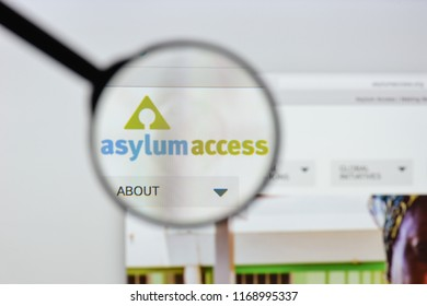 Milan, Italy - August 20, 2018: Asylum Access website homepage. Asylum Access logo visible.