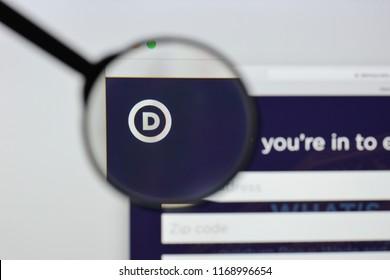 Milan, Italy - August 20, 2018: Democratic Party website homepage. Democratic Party logo visible.
