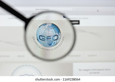 Milan, Italy - August 20, 2018: Gruppo Europeo di Ortodonzia website homepage. Gruppo Europeo di Ortodonzia logo visible.