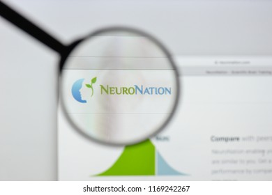 Milan, Italy - August 20, 2018: neuro nation website homepage. neuro nation logo visible.
