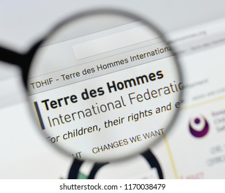 Milan, Italy - August 20, 2018: Terre des Hommes International Federation website homepage. Terre des Hommes International Federation logo visible.