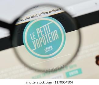 Milan, Italy - August 20, 2018: Le Petit Vapoteur website homepage. Le Petit Vapoteur logo visible.