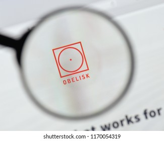 Milan, Italy - August 20, 2018: Obelisk Legal Support Solutions website homepage. Obelisk Legal Support Solutions logo visible.