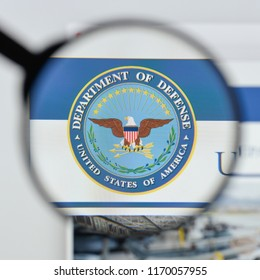 Milan, Italy - August 20, 2018: U.S. Dept of Defense website homepage. U.S. Dept of Defense logo visible.