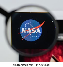 Milan, Italy - August 20, 2018: NASA website homepage. NASA logo visible.