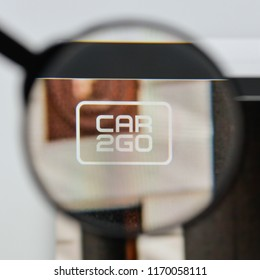 Milan, Italy - August 20, 2018: Car2Go website homepage. Car2Go logo visible.