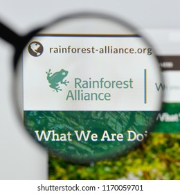 Milan, Italy - August 20, 2018: Rainforest Alliance website homepage. Rainforest Alliance logo visible.