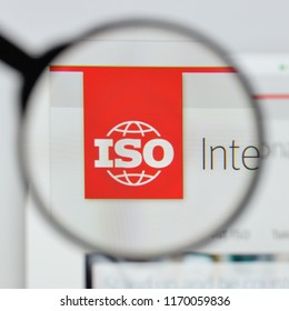 Milan, Italy - August 20, 2018: ISO - International Organization for Standardization website homepage. ISO - International Organization for Standardization logo visible.