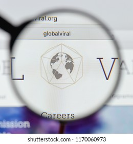 Milan, Italy - August 20, 2018: Global Viral Forecasting Initiative website homepage. Global Viral Forecasting Initiative logo visible.