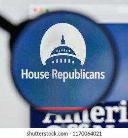 Milan, Italy - August 20, 2018: Republican Party website homepage. Republican Party logo visible.