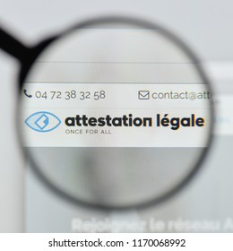 Milan, Italy - August 20, 2018: Attestation Légale website homepage. Attestation Légale logo visible.