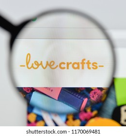 Milan, Italy - August 20, 2018: LoveCrafts website homepage. LoveCrafts logo visible.