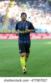 Milan, Italy, august 2016 Italy league Serie A 2day: Ever Banega during the football match between FC INTER vs PALERMO at San Siro stadium on august 28 2016