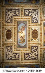MILAN, ITALY - AUGUST 29, 2014: the historic church named Certosa di Garegnano, interior