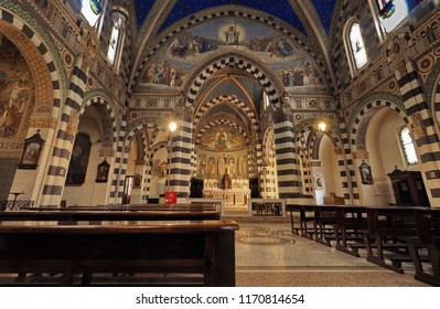 MILAN Italy August 31 2018 Interior Church Of SantEufemia Built From