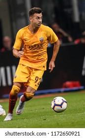 Milan, Italy. August 31, 2018. Campionato Italiano di Serie A. Milan - Roma 2-1. Stephan El Shaarawy, Roma.