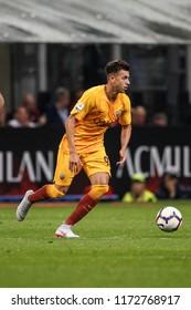 Milan, Italy. August 31, 2018. Campionato Italiano di Serie A. Milan - Roma 2-1. Stephan El Shaarawy. Roma.