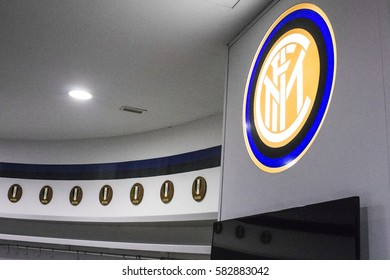 MILAN, ITALY - August 8, 2016: Inside the Stadio Giuseppe Meazza, commonly known as San Siro. A football stadium in Milan, Italy, which is the home of A.C. Milan and Inter Milan.