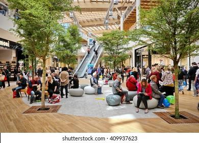 Milan, Italy - Circa April 2016:  Arese shopping center, the biggest shopping center in Italy