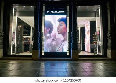 MILAN, ITALY - CIRCA NOVEMBER, 2017: MAC store in Milan. MAC is an abbreviation for Make-up Art Cosmetics.