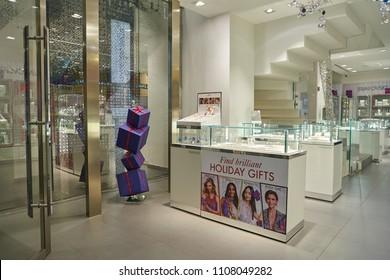 0c073cc846c MILAN, ITALY - CIRCA NOVEMBER, 2017: interior shot of Swarovski store in  Milan