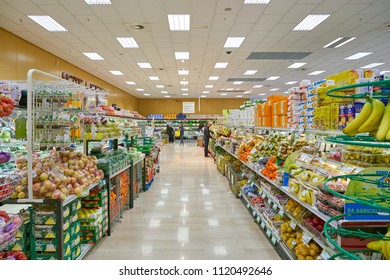 MILAN, ITALY - CIRCA NOVEMBER, 2017: interior shot of supermarket in Milan.